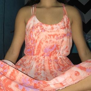 TIE DYE HIGH LOW DRESS